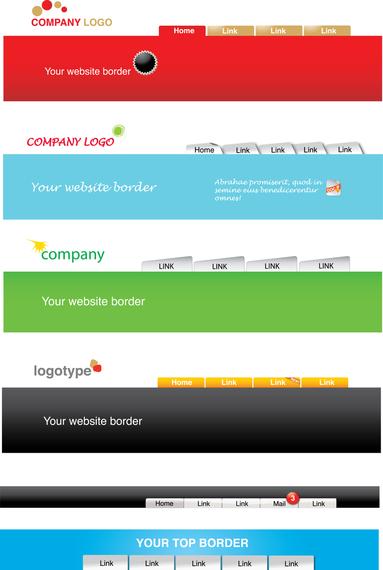 website header template vector vector download