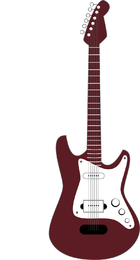 Brown and white simple guitar