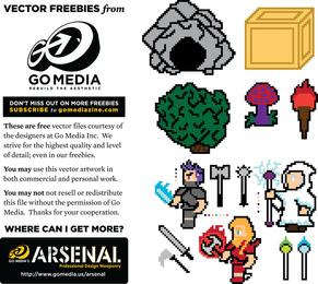 Gomedia Pixel Art Vector Material