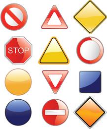 Alguna señal de tráfico simple