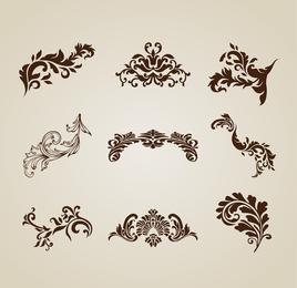 Vintage Beautiful Design Elements Vector Set