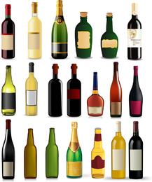 Coleção de vetores de garrafa
