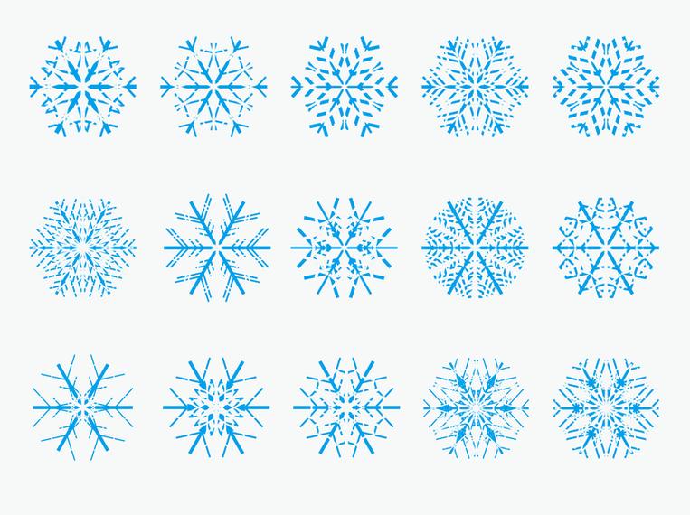 Vector Copo De Nieve: Vectores De Copo De Nieve