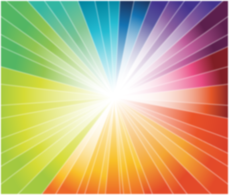 Rainbow Burst Vector Graphic - Vector download