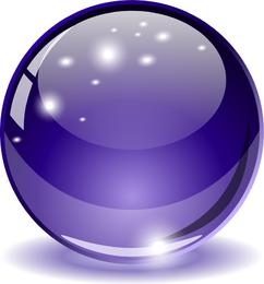 Esfera chispeante morada