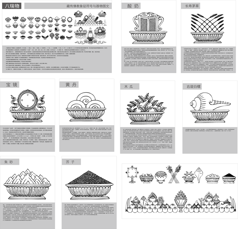 Tibetan Buddhist Symbols And Artifacts Of The Two Plans Eight Rui
