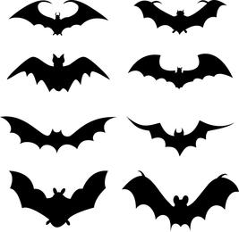 Conjunto de silueta de murciélago
