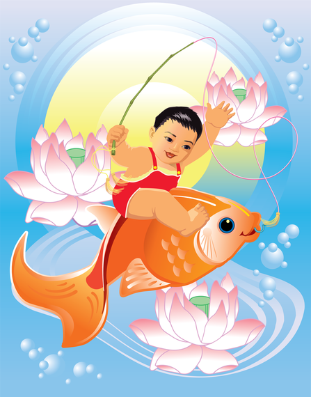 Vector Wind Auspicious Chinese New Year