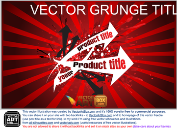 Vector Grunge Title