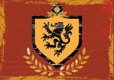 Brasão do escudo do leão