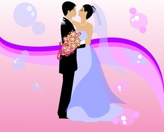 Arte vetorial de casamento grátis