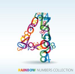 Numbers Of Digital Vector