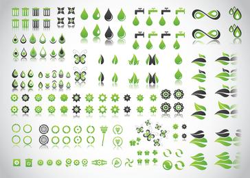 Vetores de planeta verde