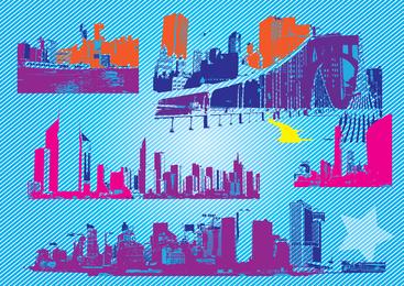 Gráficos de vetor de cidade livre