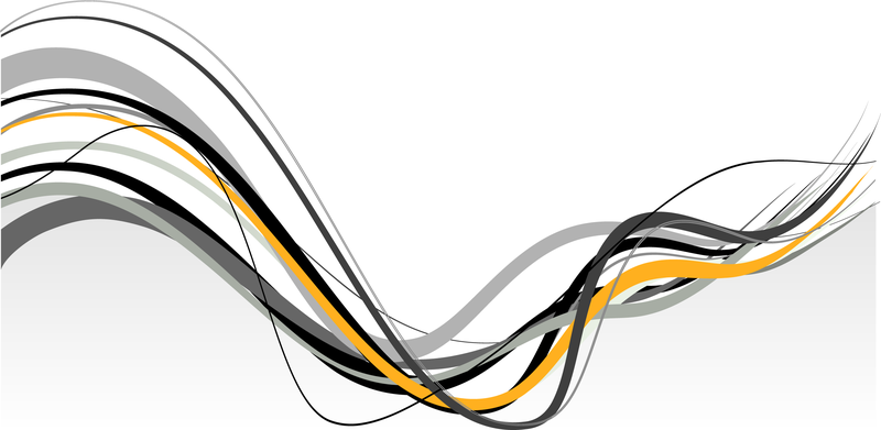 abstract banner with wavy lines - vector download