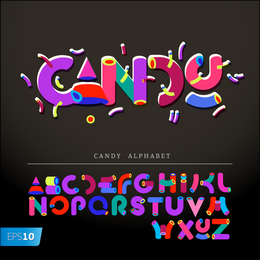 Lovely English Words Design Vector 1
