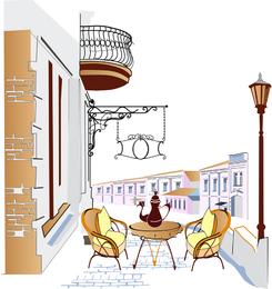 Cafeterías en la carretera 04 Vector 2