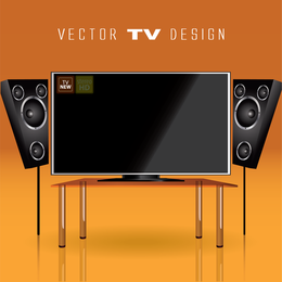 Led Tv 09 Vector