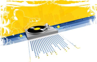 Techno music DJ design