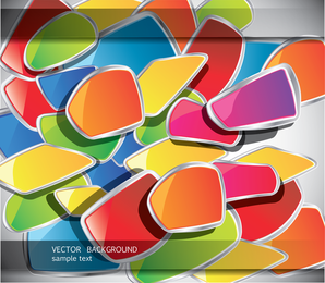 Color Stack Of Paper 02 Vector