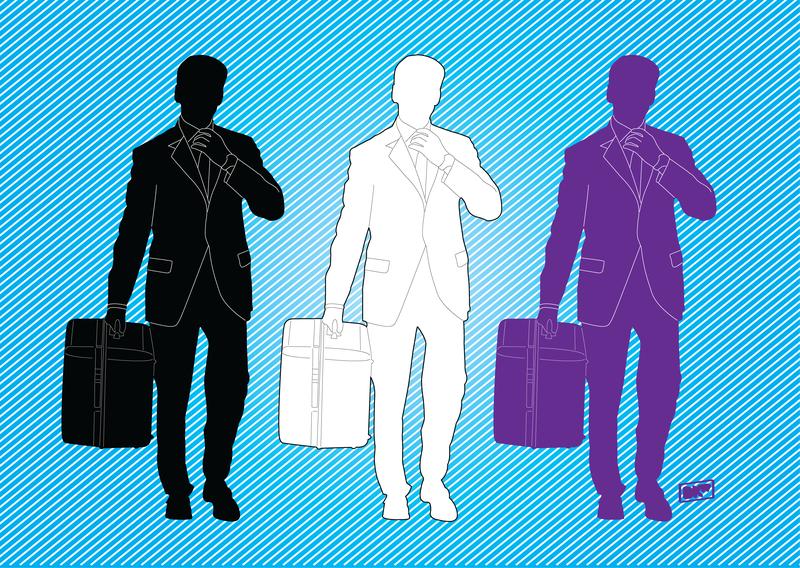 Gráficos de homem de negócios