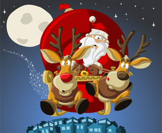 Cute Santa Illustrator 04 Vector