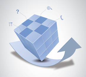Vector Magic Cube E Arrow Design