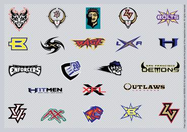 Inspiração de logotipo de futebol