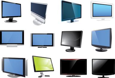 Tv And Monitor Vector Set