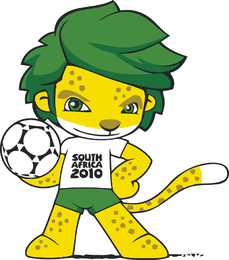 South Africa 2010 World Cup Mascot Zakumi Vector