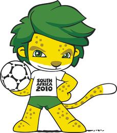 Sudáfrica 2010 Copa del Mundo Mascota Zakumi Vector
