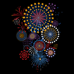 5 Vector Brilliant Fireworks