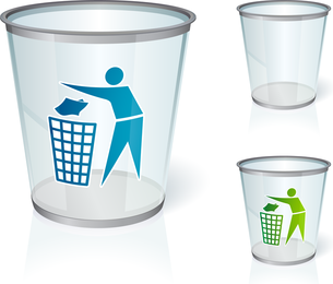 Recycling Trash Vector Graphic