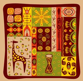 Vetor de Totem tribal clássico 3