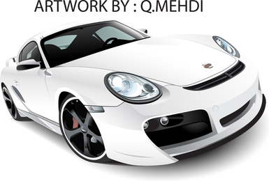 Grátis Vector Whiteporsche 911 Turbo Techart