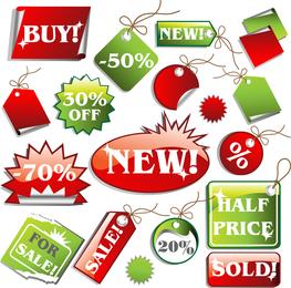Supermarket Price Tag Vector