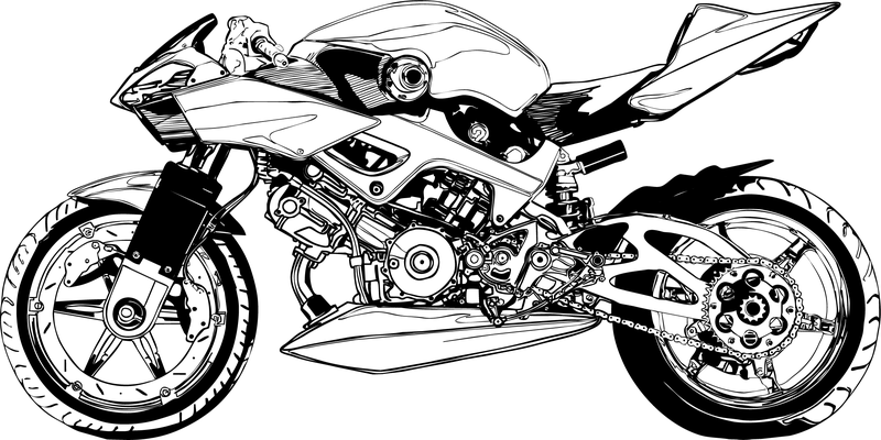 black and white motorcycle vector vector download