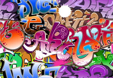 Beautiful Graffiti Font Design 05 Vector