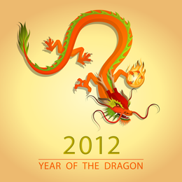 2012 Dragon Image Illustration 03 Vector