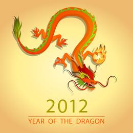 Vetor de ilustração de Dragon Vector 2012 03
