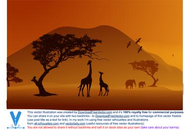 Vektor-Safari-Poster