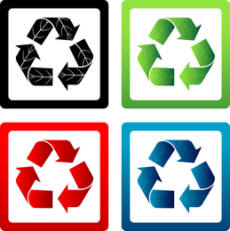Vektor Recycling Symbole Pack