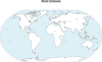 Weltkontinent-Karten-Vektor