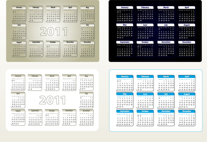 Linda 2011 calendário modelo 05 Vector