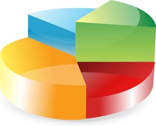 Kreisdiagramm-Vektor
