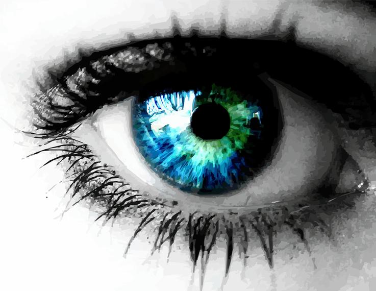 Beautiful Colored Eye Free Vector