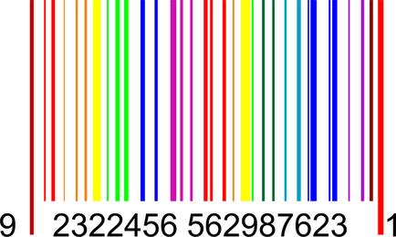 Vector de gráficos de código de barras colorido