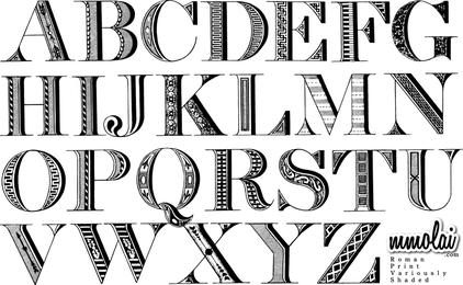 Vector Typeface Rpvs