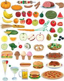 Comida Frutas e vegetais Vector
