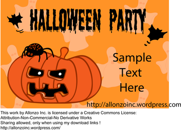 Halloween Party Invitation Card with Pumpkin
